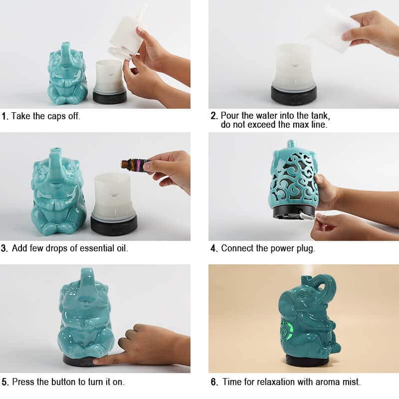 Wholesale-Elephant-Essential-Oil-Aroma-Diffuser-X117R-Instructions