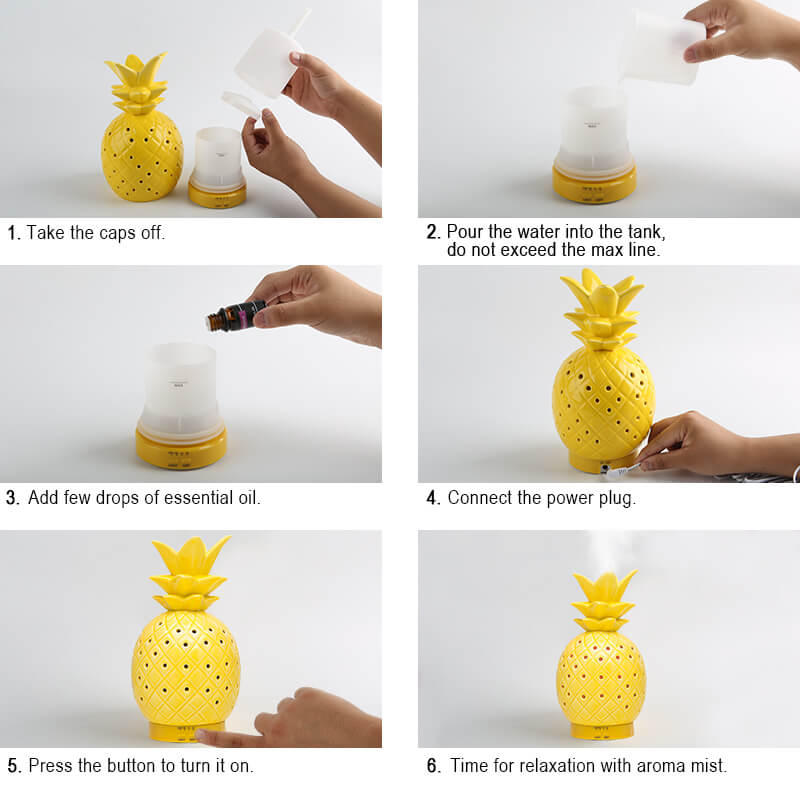 Wholesale-Gold-Pineapple-Essential-Oil-Aroma-Diffuser-X117P-Instructions