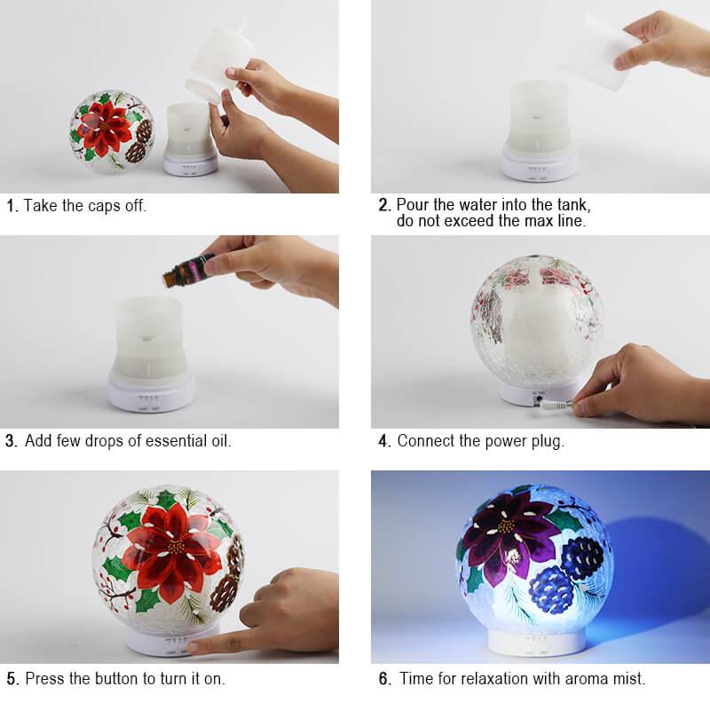 Wholesale-Poinsettia-Essential-Oil-Aroma-Diffuser-X117E2-Instructions