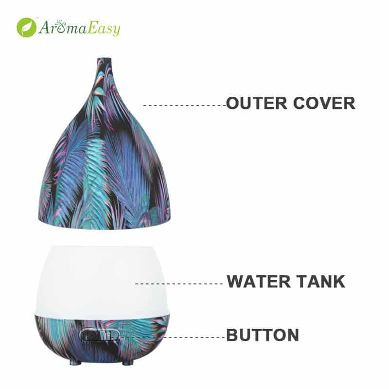 color changing ultrasonic humidifier aroma diffuser
