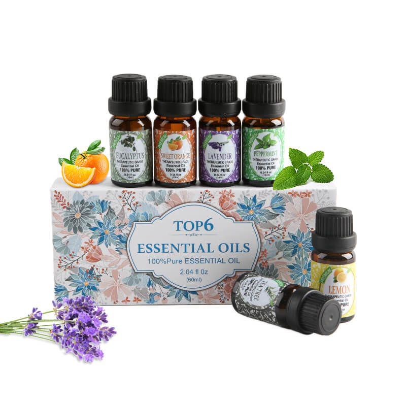 Top 6 - 10ml Essential Oils kit E128_V1