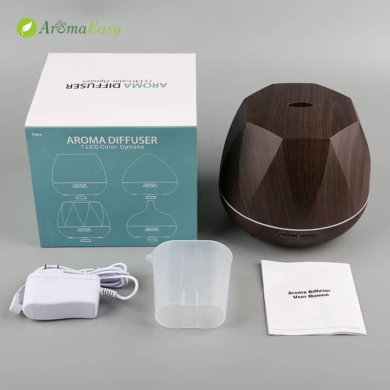 geometric wood aroma diffuser