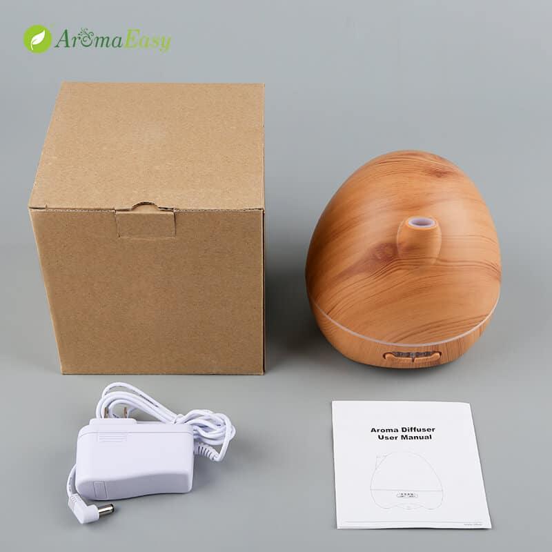 egg shape wooden oil diffuser