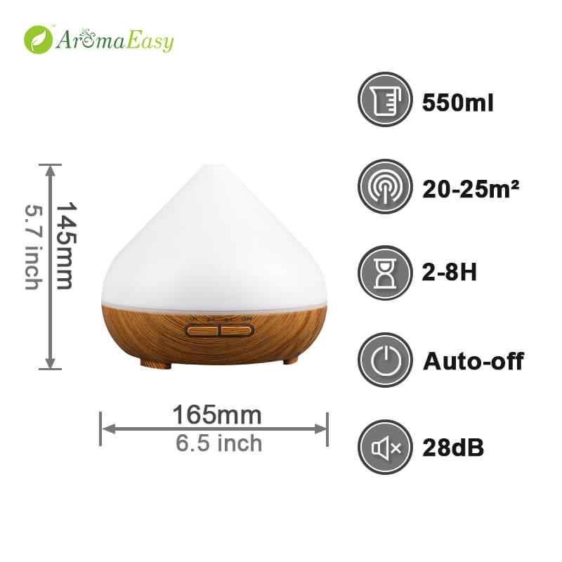 LED ultrasound oil diffuser