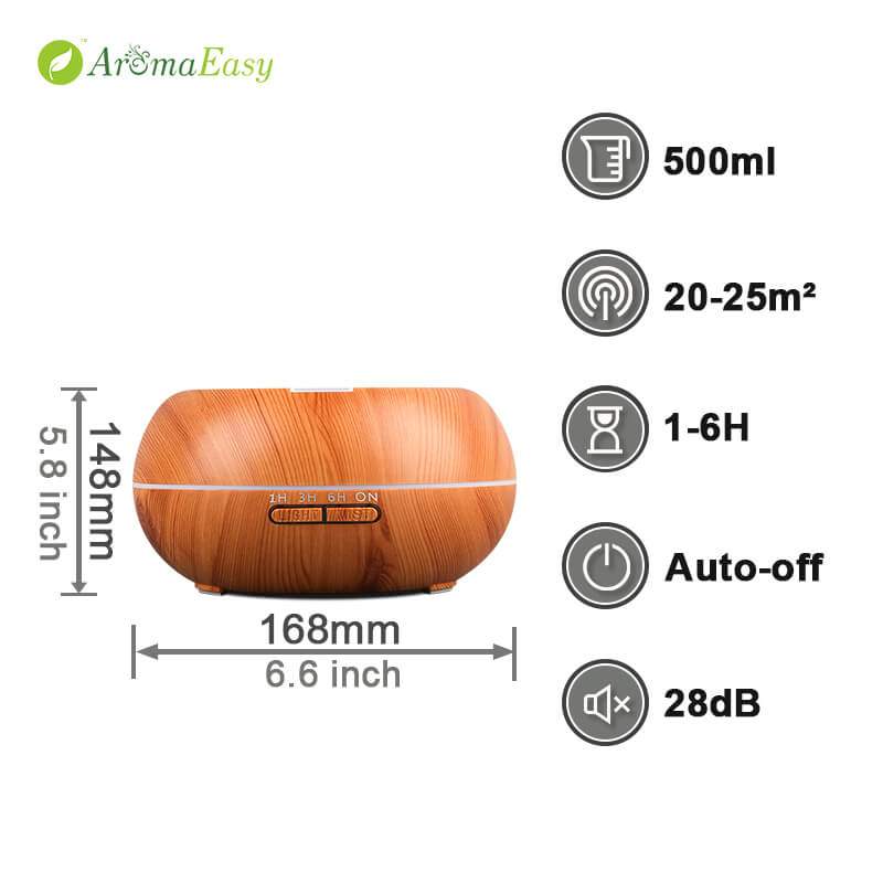 wood grain essential oil diffuser