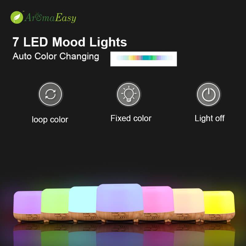 7 colors oil diffuser