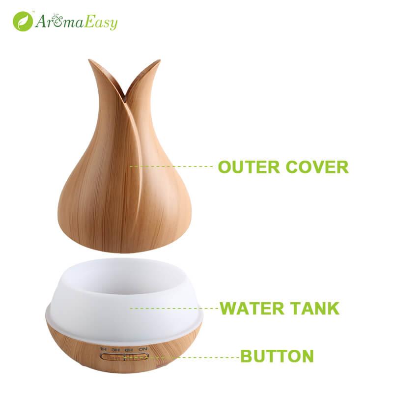 A064-03 natural wood ultrasonic diffuser