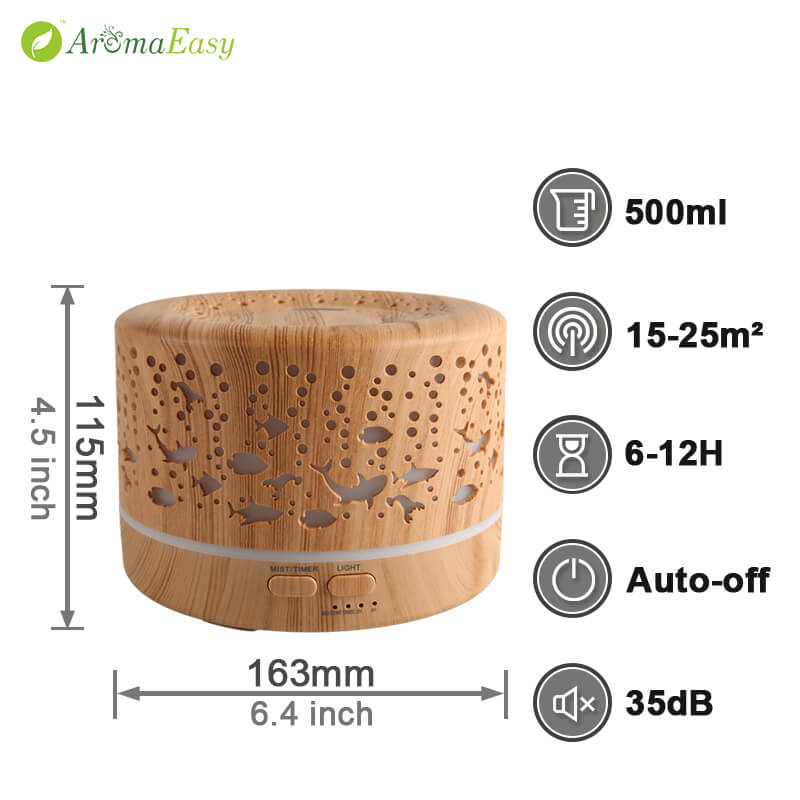 A065-02 ultrasonic cool mist humidifier essential oil diffuser