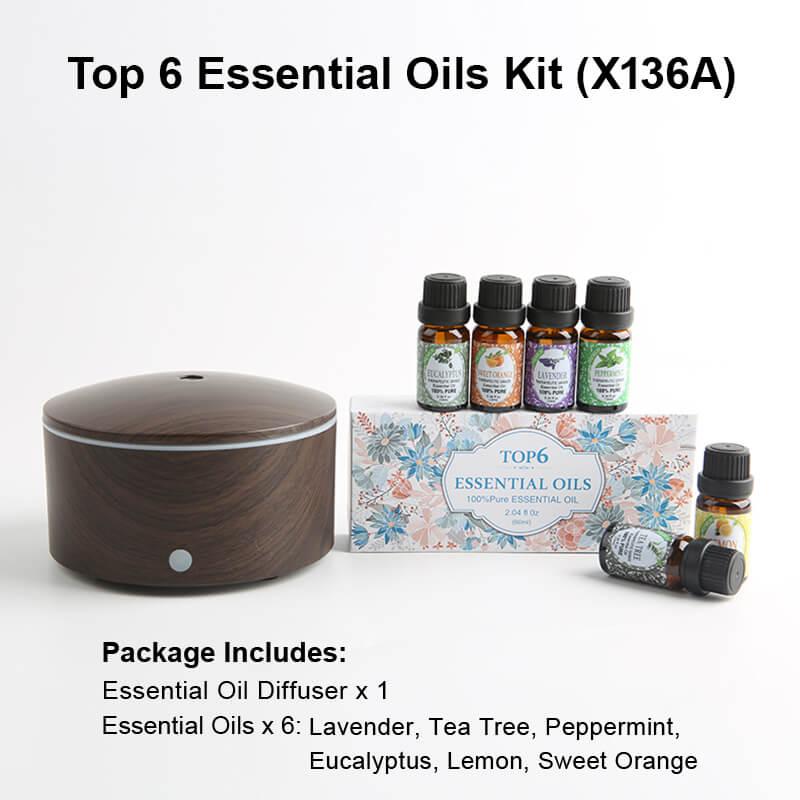X136A Diffuser Essential oil kits Black